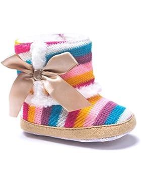 JIANGFU Baby Regenbogen weichen Boden warme Stiefel,Baby-Regenbogen-weiche Sole-Schnee-Aufladungen Weiche Krippe-Schuhe...