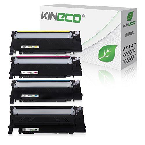 4 Toner kompatibel für Samsung Xpress C430 C430W C480 C480fw C480w Farblaserdrucker - CLT-P404C/ELS - Schwarz 1500 Seiten, Color je 1000 Seiten
