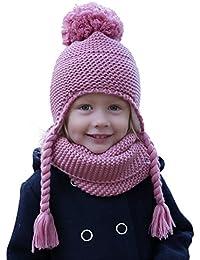 b1c91fb42 Hilltop 100% algodón  Conjunto de invierno para niños conjunto de bufanda  redonda y gorro