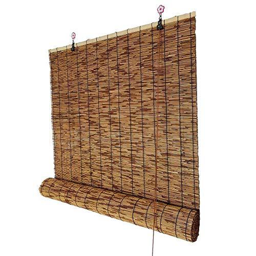 Reed Cortina, persiana Enrollable de bambú Decorativa, sombrilla Retro Impermeable contra el Moho, persianas Exteriores, el tamaño Puede ser Personalizado