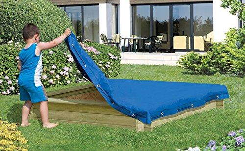 Sandkastenabdeckung 120x120 cm, blaue Plane für Sandkasten Abdeckplane Abdeckung von Gartenwelt Riegelsberger