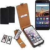 K-S-Trade Flipstyle Case für General Mobile 4G Schutzhülle Handy Schutz Hülle Tasche Handytasche Handyhülle + integrierter Bumper Kameraschutz, schwarz (1x)