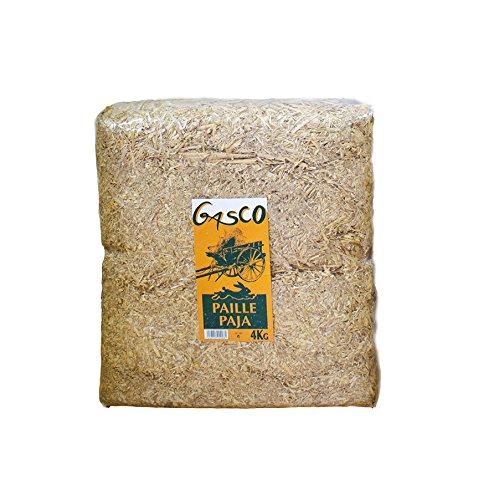 Gasco Litière Paille Naturelle pour Rongeur et Volaille 4 kg