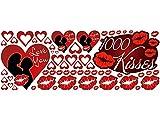 Pegatinas de pared Pegatinas set cuarto de estar dormitorio 1000 Kisses Love (Tamaño=150x57cm)