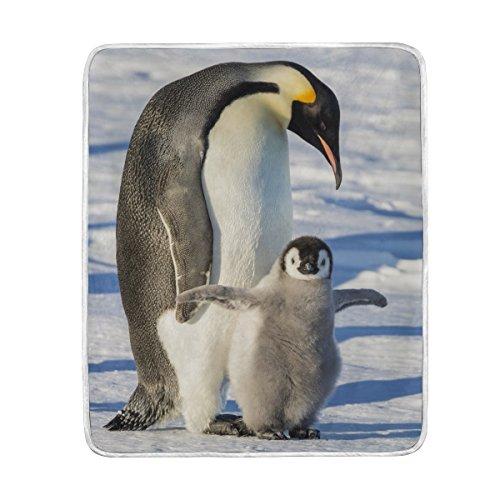 niedliche Pinguin-Decke, weich, warm, für Bett, Couch Sofa, leicht, für Reisen, Camping, 127 cm x 152,4 cm, Überwurf, Größe für Kinder, Jungen und Frauen ()