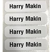 Ex Highstreet 10, 25, 50, 100 Pre-Cut Printed School Name Tapes/Labels Tags for Clothes White