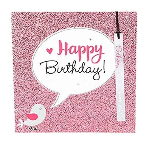 Depesche 8211.026Tarjeta de felicitación Glamour con Ornamento y Purpurina, cumpleaños