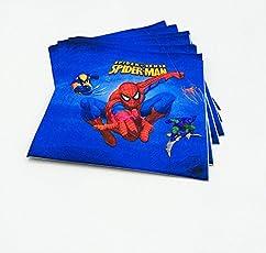 Party Propz Spiderman Paper Tissue Napkins Pack (20 Pcs)