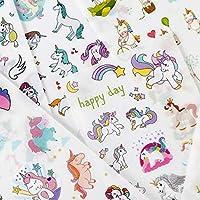 yunkanda 6 Pcs/Pack Happy Unicorn Stickers Decorative Stationery Craft Stickers Scrapbooking Diy Stick Label
