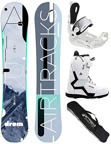 Airtracks donna snowboard set/drom lady rocker 155 + snowboard attacchi master w + snowboardboots savage w 42 + sb bag