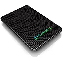 Transcend ESD400 externe SSD-Festplatte 128GB (4,6 cm (1,8 Zoll), USB 3.0) schwarz
