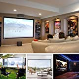 Tiowea Pieghevole Anti Pieghe per Home Cinema Indoor Outdoor Proiettore TV & Home Cinema
