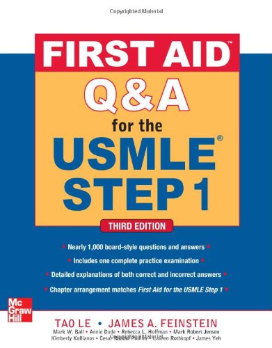 First aid Q&A for the USMLE step 1 (Medicina)