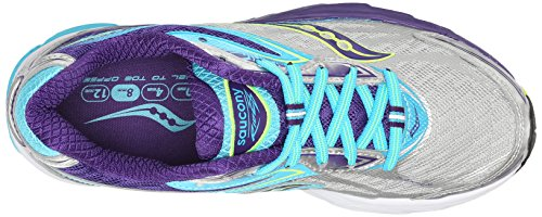 Saucony Ride 8 Damen Traillaufschuhe Mehrfarbig (Silver/Purple/Blue)