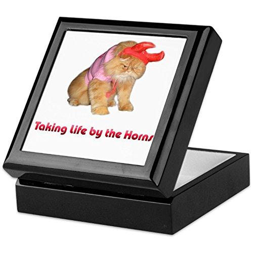 CafePress–Life von Hörner–Keepsake Box, fertig Hartholz Jewelry Box, Samt Gefüttert Memento Box schwarz (Kind Jünger Kostüm)