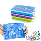 Morfone ijsblokjesvorm, 3 stuks, silicone, ijsblokjesvorm, ijsblokjesvorm met deksel, LFGB-gecertificeerd, 24-voudig