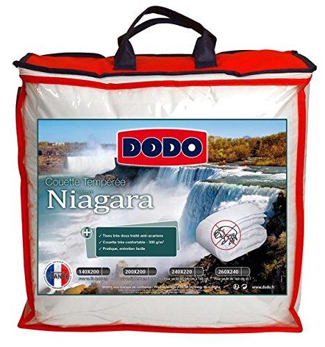 Dodo NIAGARA Couette, Polyester, Blanc, 200x140 cm