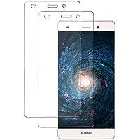 Huawei P8 Lite Cristal Templado [2 Unidades] Didisky Protector de pantalla de vidrio templado para HUAWEI P8 Lite,(Para No P8) [Toque Suave] Fácil de limpiar, Fácil de instala,9H