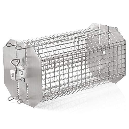 BBQ-Toro Edelstahl Grillrondell für Drehspieß, Universal Grillkorb für Grillspieß, Tumbler Käfig Korb für Rotisserie