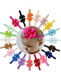 Fameza Satin Hair Band For Born Baby - Multi-Colour (Pack Of 10)