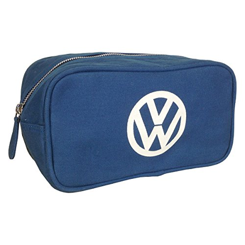official-volkswagen-canvas-toiletry-wash-bag-blue-with-vw-logo