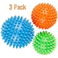 Best Spiky Massage Roller Ball - 8 cm - Includes FREE Ebook.Perfect for Foot Massage, Back, Plantar Fasciitis & All Over Body Deep Tissue Therapy.