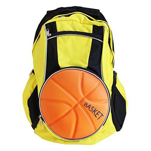 Diapolo Professional Basketball Rucksack Funktionrucksack Tasche Sporttasche (schwarz-gelb)