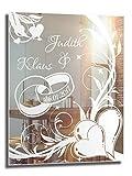 Motivspiegel Ehe 1 ★ 30x40cm ★ Geschenk zur Hochzeit ★ Wedding ★ personalisiert