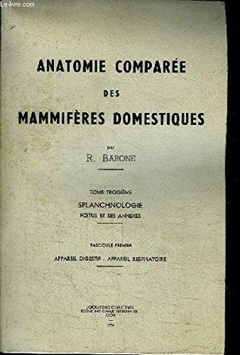 Anatomie compare des mammifres domestiques