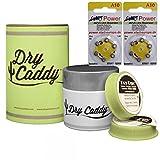 Dry Caddy (Dose inkl. 6 Discs), Trockenmittel, Trockensteine inkl. StartPower Hörgerätebatterien A10 (12 Stück)