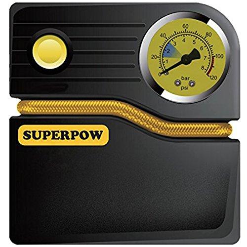 Superpow Compressore Aria Portatile Compressore Da Auto 100 PSI 12v DC Pompa...