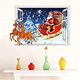 Clearance/ Bluester Christmas Bells Removable Wall Sticker Adornment Wall Glass Window Decoration (Red)