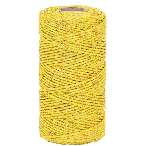 cordon/fil pour clôtures électriques VOSS.miniPET 125m, 4x0,20 TLD, jaune