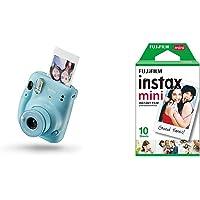 Fujifilm instax Mini 11 Sky Bleue + Films Mini Instax - 86 x 54 mm - Monopack 10 Films