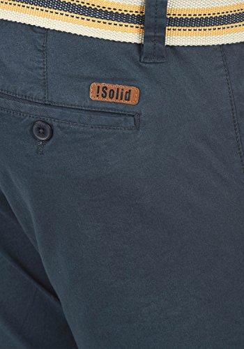 SOLID Lagos Herren Chino-Shorts kurze Hose Business-Shorts mit Gürtel aus hochwertiger Baumwollmischung Insignia Blue (1991)