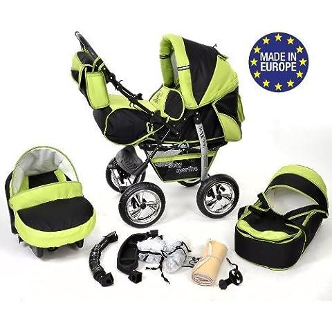 3-in-1 Travel System con carrozzina, seggiolino auto, passeggino sportivo e accessori NO RUOTE GIREVOLI