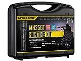 Nitecore NC-HSMH25GT Hunting Set MH25GT Taschenlampe, Schwarz, One Size