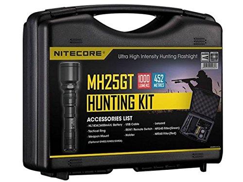 Nitecore Taschenlampe Hunting Set MH25GT, Schwarz, One Size, NC-HSMH25GT