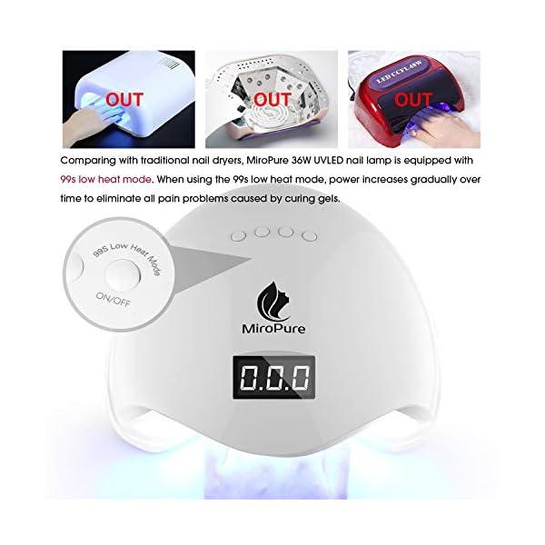 Lámpara de LED UV de 36W con secador de uñas