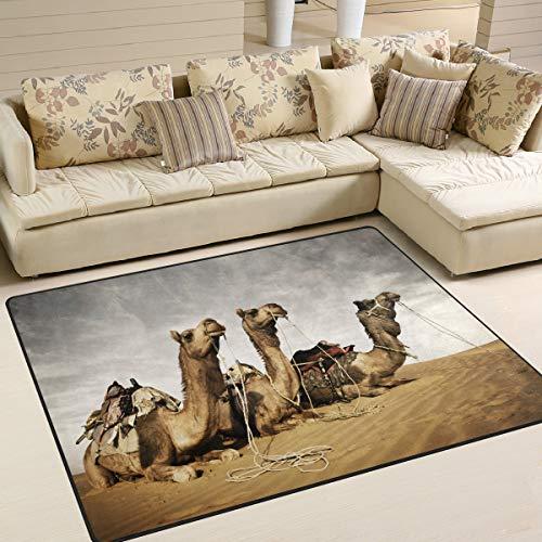 Camellos descansando en el desierto de Thar Rajasthan Indi Alfombrilla de piso para hombres Alfombrilla...