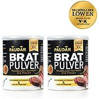 PAUDAR Bratpulver 2er-Set | Vegan, leicht dosierbar | 100 % pflanzlich, reduziert Fettspritzer