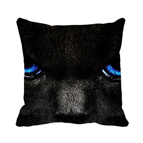 Sage Avec Des Yeux De Bleu - okoukiu Toile en coton chat noir avec
