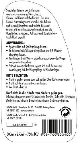 SONAX 533400 InsektenEntferner Aktionsflasche, 750ml