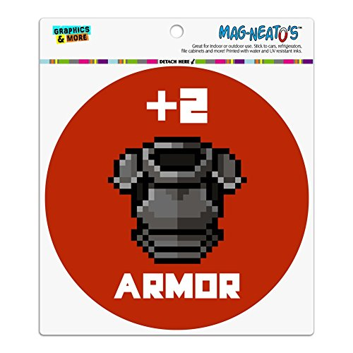 Graphics and More 8-bit Pixel, Retro-2Armor Gamer-Auto-Kühlschrank Locker Vinyl mit Magnet