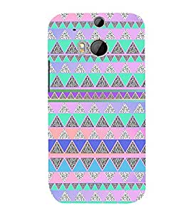 Hill Shape Pattern 3D Hard Polycarbonate Designer Back Case Cover for HTC One M8 :: HTC M8 :: HTC One M 8