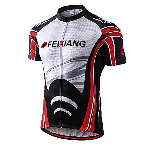 FEIXIANG Herren Radtrikot, Fahrradtrikot Fahrrad Trikot KurzarmFahrradbekleidung für Männer, AtmungsaktiveCycling Jersey Radsport Bekleidung