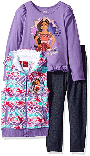 Disney Girls' 3 Piece Elena of Avalor Vest and Pant Set Disney