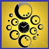 joyliveCY 2016 Neue Art und Weise 3D Acrylspiegel Wanduhr Uhren Uhr Große Dekorative Quarz