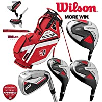 Wilson Prostaff SGI Mens Complete Club Set Golf Package Fitted With Steel Shafted Irons & Graphite Shafted Woods Mens Right Hand EXO Carry Bag