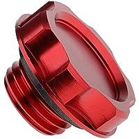 Sharplace Tapón de Llenado de Aceite Compresión de Válvula de Aluminio de Combustible - Rojo